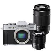 Fujifilm X-T20 Mirrorless Camera Body in Silver + XC 16-50mm lens + XC 50-230mm Lens