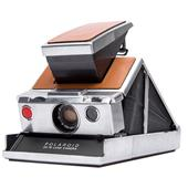 Impossible Project Polaroid SX-70 Instant Camera in Chrome and Brown