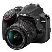 Nikon D3400 Digital SLR in Black + 18-55mm f/3.5-5.6 AF-P Non VR Lens