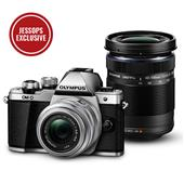 Olympus OM-D E-M10 Mark II Compact System Camera in Silver + 14-42mm + 40-150mm Lenses