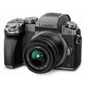 Panasonic Lumix DMC-G7 Compact System Camera in Silver + 14-42mm Lens