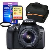 Canon EOS 1300D Digital SLR + EF-S 18-55mm IS II Lens + Accessories Bundle