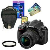 Nikon D3400 Digital SLR in Black + 18-55mm f/3.5-5.6 AF-P VR Lens + Accessories Bundle