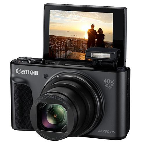 A picture of Canon PowerShot SX730 HS Digital Camera in Black
