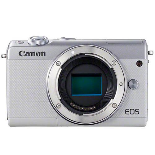 A picture of Canon EOS M100 Mirrorless Camera Body in White