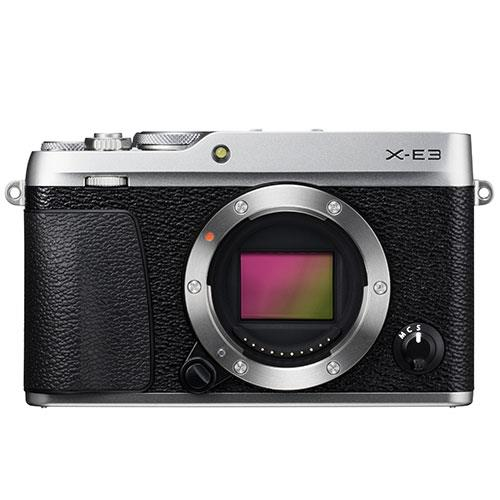A picture of Fujifilm X-E3 Mirrorless Camera Body in Silver
