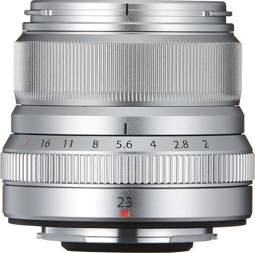 A picture of Fujifilm XF23mm f/2 R WR Lens in Silver