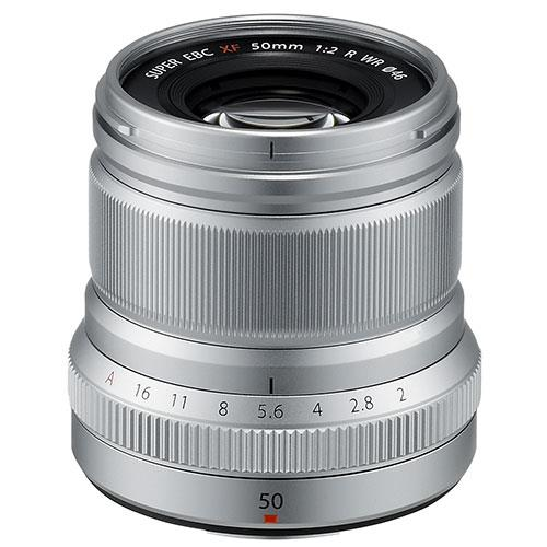 A picture of Fujifilm XF50mm f/2.0 R WR Lens in Silver