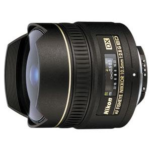 A picture of Nikon AF DX 10.5mm f/2.8G ED Fisheye Lens