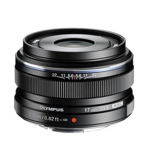 A picture of Olympus M.ZUIKO Digital 17mm f1.8 Lens in Black