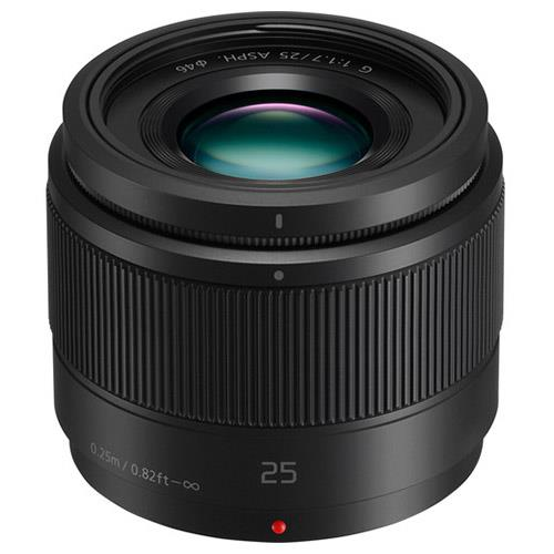 A picture of Panasonic 25mm f/1.7 Lens in Black - H-H025E
