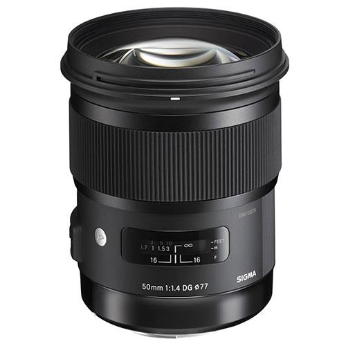 A picture of Sigma 50mm f/1.4 DG HSM Art Lens - Nikon Fit