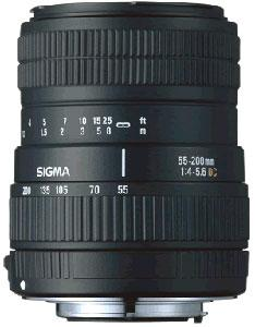 A picture of Sigma 55-200mm f/4-5.6 DC (Canon AF)