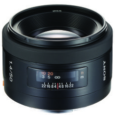 A picture of Sony 50mm f/1.4 A Standard Lens