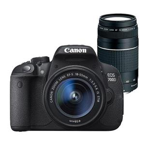 Buy Canon EOS 700D Digital SLR + 18-55mm IS STM Lens + 75-300mm DC III Lens from Jessops
