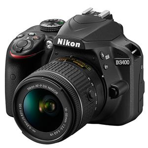 Buy Nikon D3400 Digital SLR in Black + 18-55mm f/3.5-5.6 AF-P VR Lens from Jessops