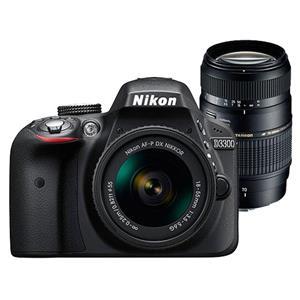 Buy Nikon D3300 Digital SLR + 18-55mm f/3.5-5.6 Non VR + Tamron 70-300mm Lens from Jessops