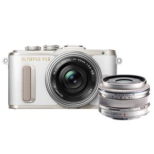 Buy Olympus PEN E-PL8 Mirrorless Camera in White + 14-42mm EZ Lens + 17mm f/1.8 Lens from Jessops