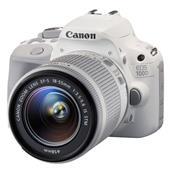 Canon EOS 100D Digital SLR in White + 18-55 IS STM Lens.