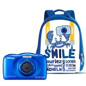 Nikon Coolpix W100 Digital Camera in Blue + Backpack