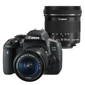 Canon EOS 750D Digital SLR Body + 18-55mm IS STM + 10-18mm