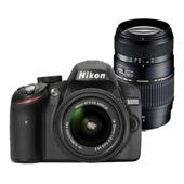 Buy Nikon D3200 Twin Lens Bundle - Nikon 18-55 + Tamron 70-300mm VC Lens from Jessops